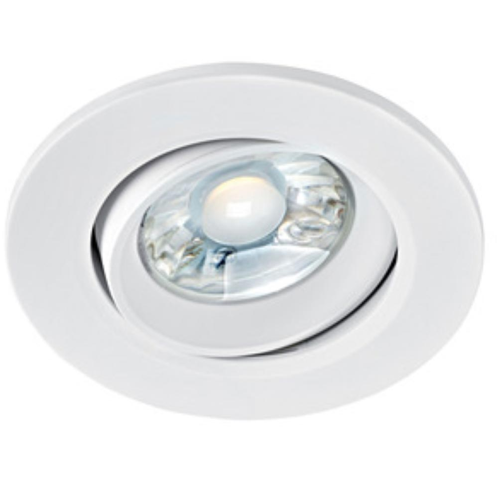 Aric - ARI50402 - ARIC 50402 - ELODY - Encastré Plafond, blanc, basculant, LED intégrée 7W 4000K 650 lumens