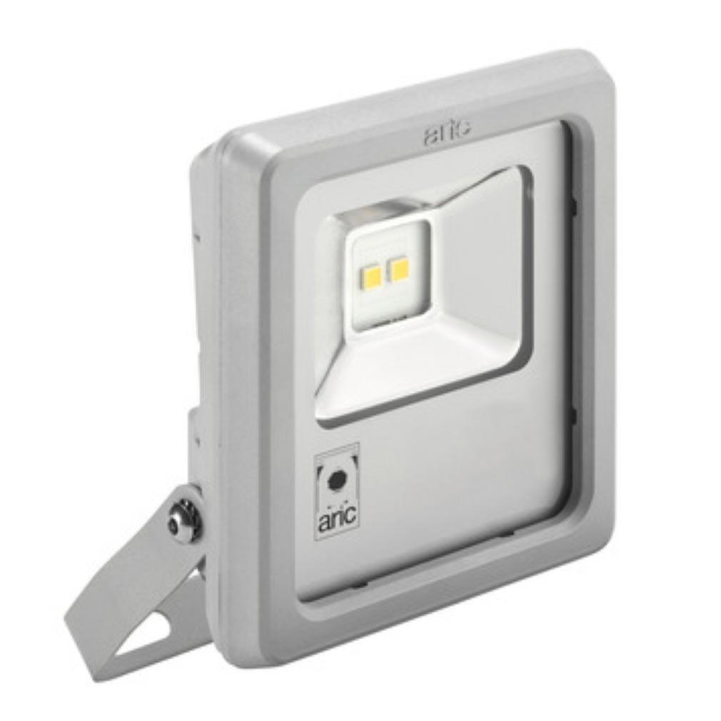 Aric ARI50405 - ARIC 50405 - Projecteur Extérieur LED IP65 IK08, gris, symétrique, faisceau 110DEG, LED CREE MHB intégrée 12W 4000K, flux sortant 1300 lumens