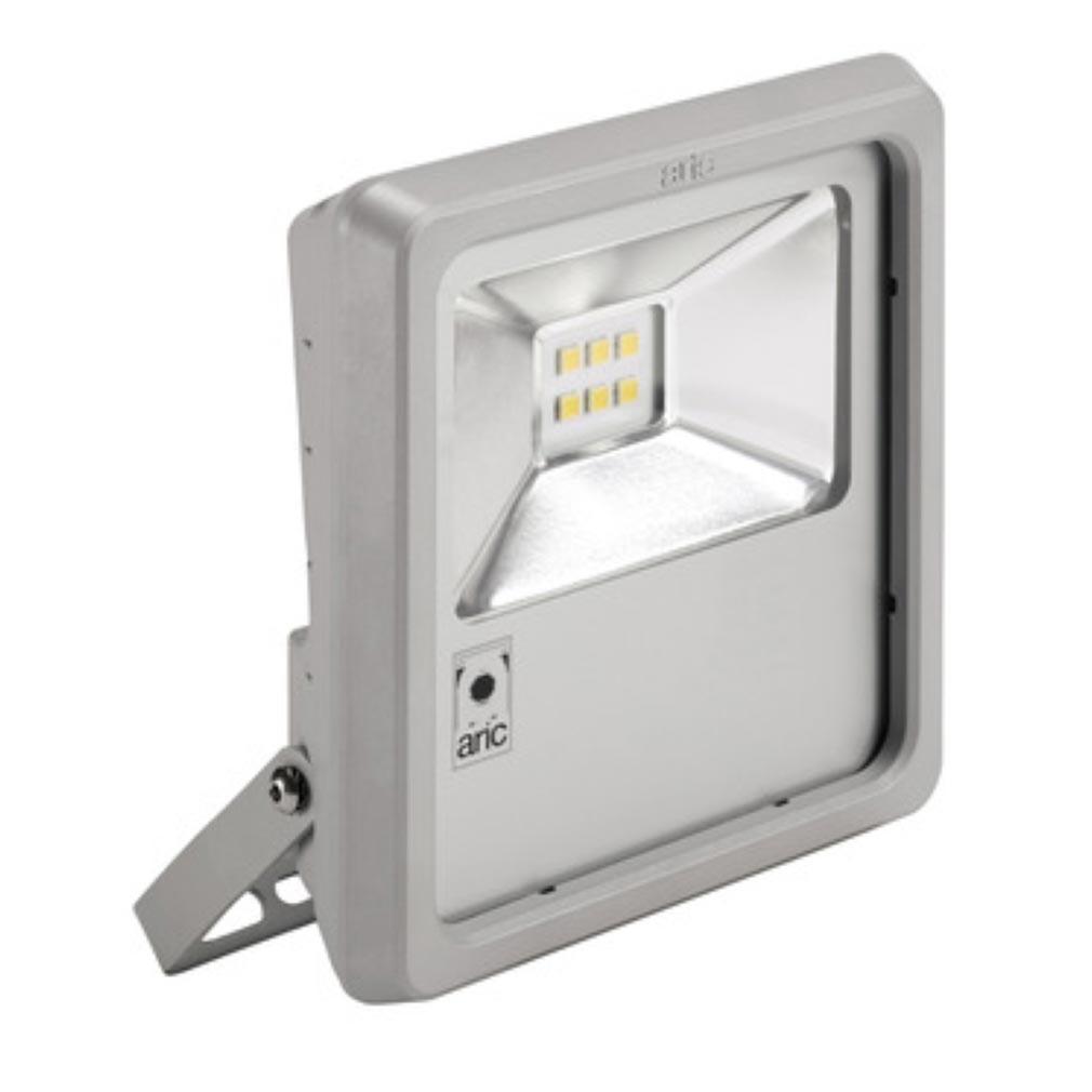 Aric 50406 - Aric 50406 - ARIC 50406   Projecteur Extérieur LED IP65 IK08, gris, symétrique, faisceau 11...