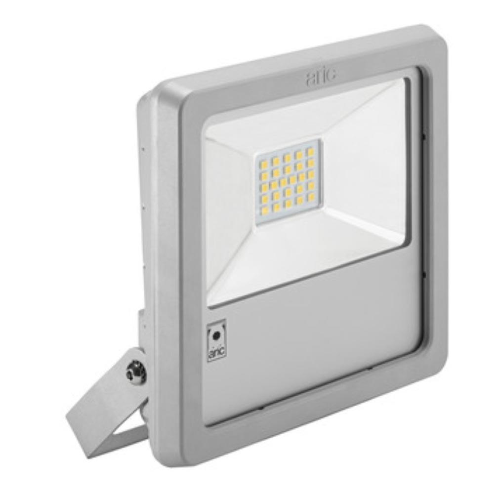 Aric ARI50408 - ARIC 50408 - Projecteur Extérieur LED IP65 IK08, gris, symétrique, faisceau 110DEG, LED CREE MHB intégrée 70W 4000K, flux sortant 7500 lumens