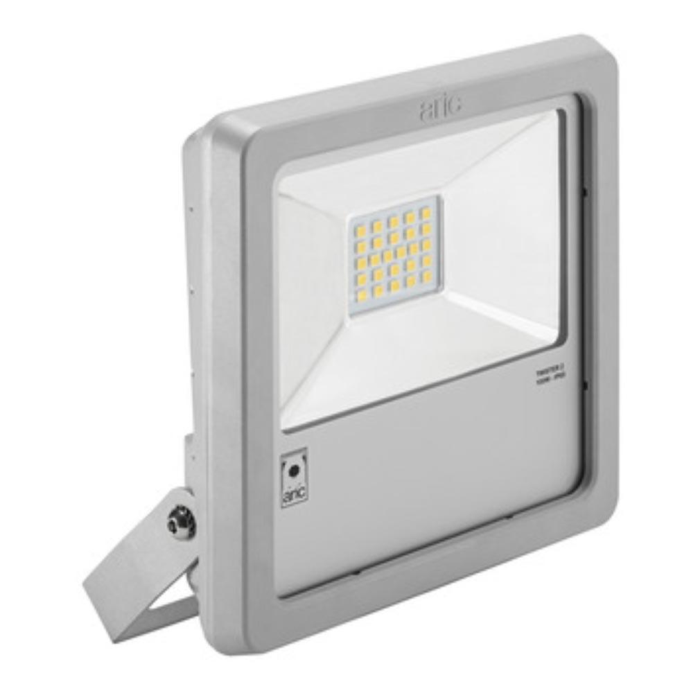 Aric - ARI50409 - ARIC 50409 - Projecteur Extérieur LED IP65 IK08, gris, symétrique, faisceau 110DEG, LED CREE MHB intégrée 100W 4000K, flux sortant 10400 lumens