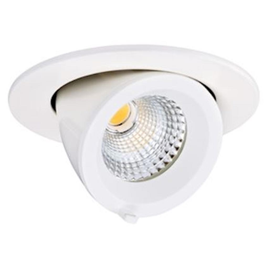 Aric - ARI50443 - ARIC 50443 - RANDY S - Downlight rond, orientable, blanc