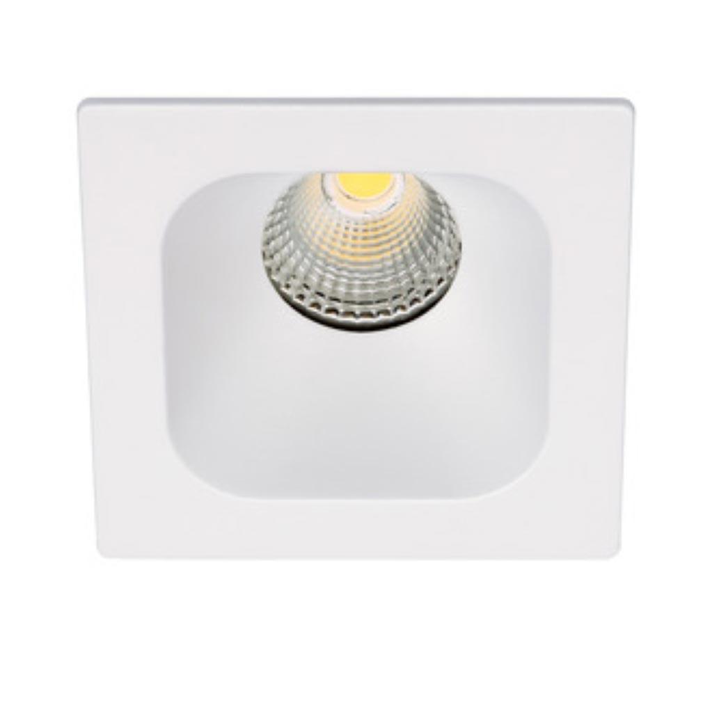 Aric - ARI50444 - ARIC 50444 - IVARO - Downlight carré fixe blanc, IP44, LED intégrée 36DEG 7,5W 4000K 620 lumens