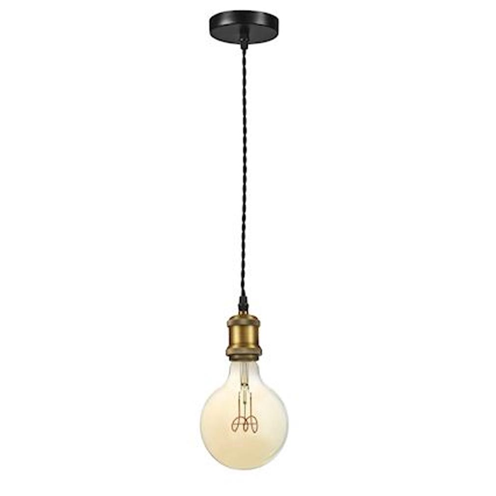 Aric - ARI50450 - ARIC 50450 - EPOQUE - Suspension E27 150W max, douille style rétro, laiton doré, lampe non fournie