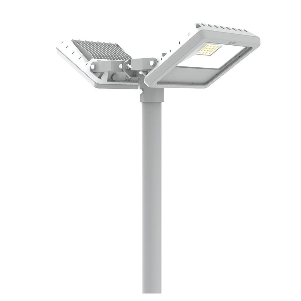 Aric - ARI50490 - ARIC 50490 - Fixation pour montage sur mât de 2 projecteurs TWISTER 2