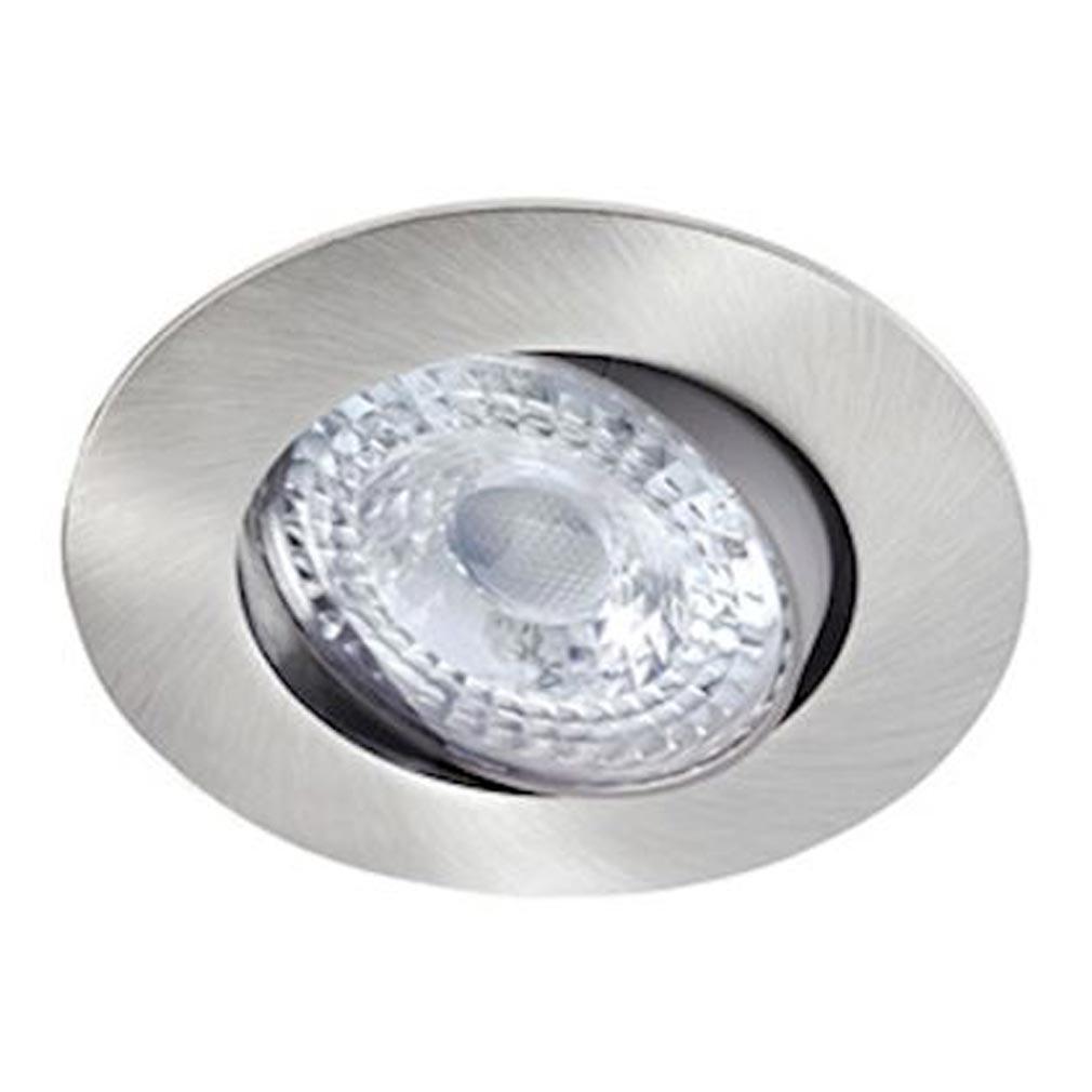 Aric - ARI50536 - ARIC 50536 - K8 - Encastré, basculant 20DEG, nickel, LED intégrée