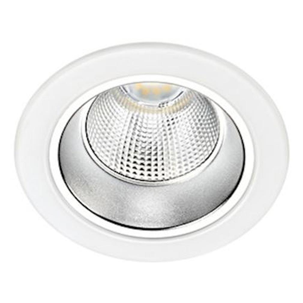 Aric - ARI50601 - ARIC 50601 - RIVA - Downlight IP20, D=113mm, fixe, blanc, LED intégrée10W