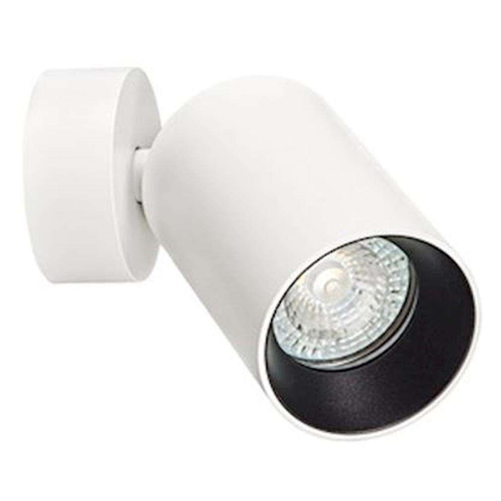 Aric - ARI50673 - ARIC 50673 - Spot sur patère ø60, corps aluminium blanc, réflecteur noir