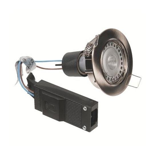 Aric - ARI5239 - ARIC 5239 - GALAXY - Encastré GU10, rond, basculant, nickel, avec lampe LED 6W 4000K 450 lumens fournie