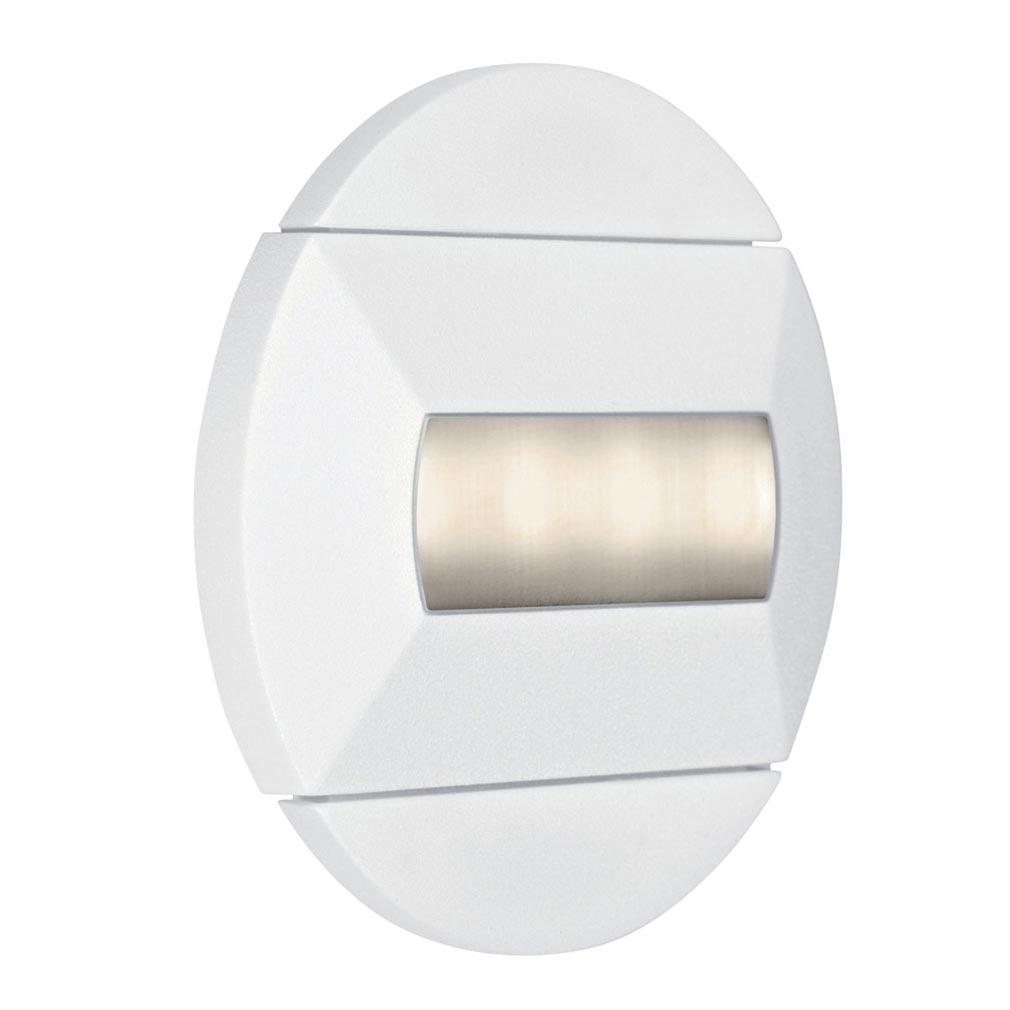 Aric - ARI5242 - ARIC 5242 - BALIZ - Encastré de mur rond, fixe, blanc, LED intégrée 0,46W 3000K 32 lumens
