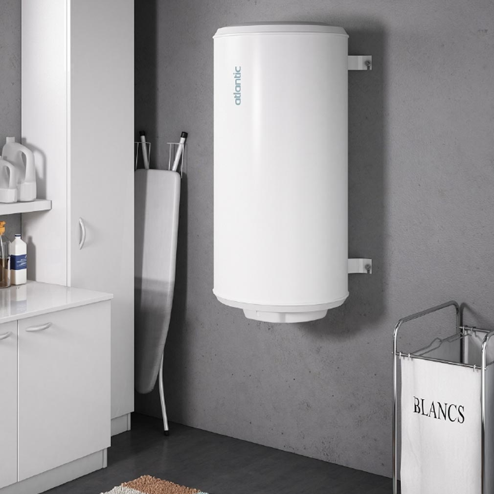 Atlantic - ATL021210 - Chauffe-eau électrique ATLANTIC CHAUFFEO 100 litres à résistance blindée compact mural vertical monophasé
