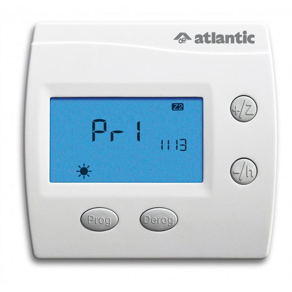 Atlantic - ATL602132 - ATLANTIC 602132 - Programmateur de chauffage Atlantic Digi pilot hebdo Hebdo 2 zones fil pilote