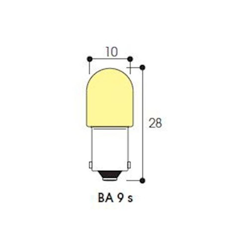 Aurora - ABIAB1760 - AURORA AB1760 -  LM - Tube 10X28 12V 3W BA9s - par 10pcsXXXX