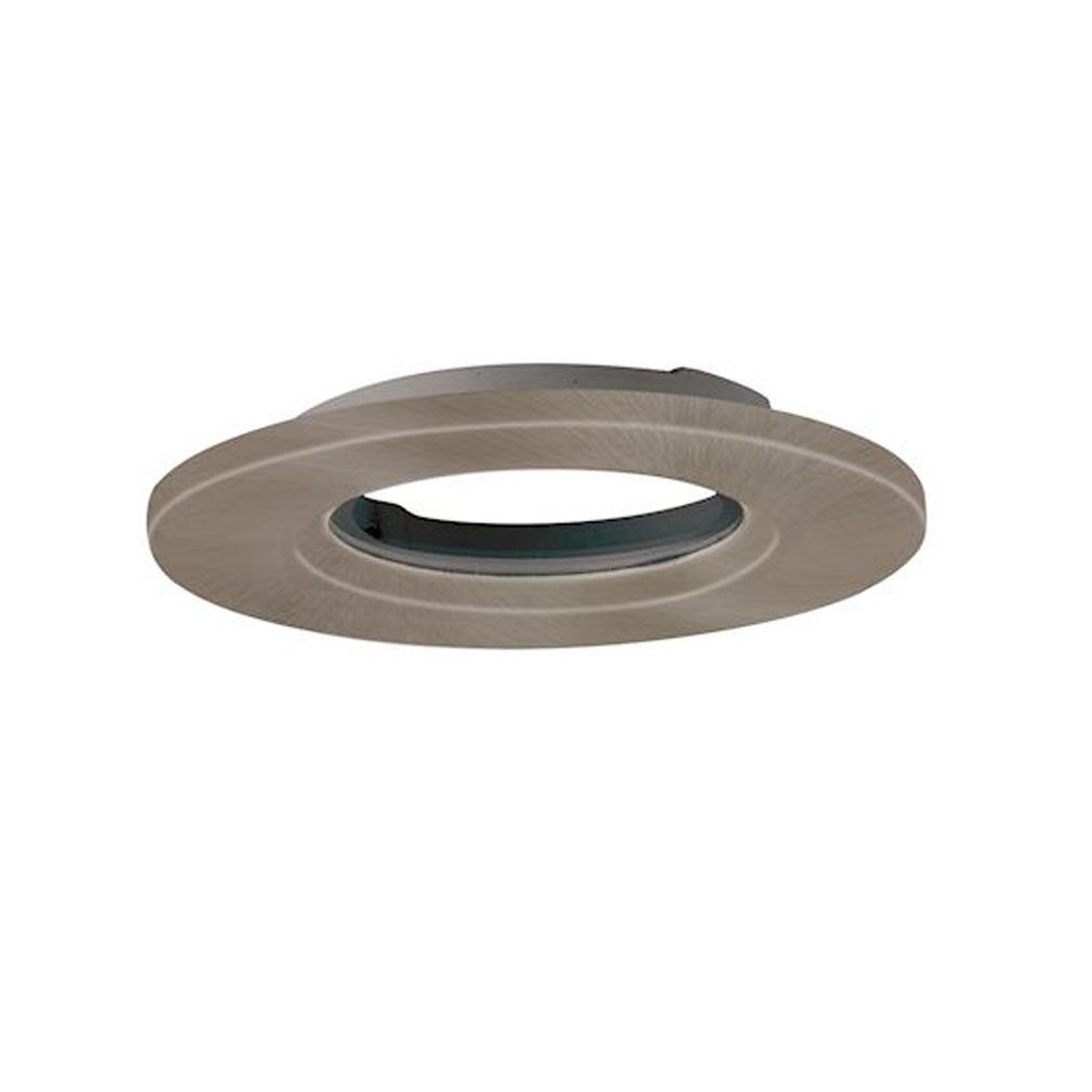 Aurora - ABIAUBZ600SN - AURORA AUBZ600SN -  mPro collerette aluminium IP65 ronde pr spot mPro - Alu brossé (sans luminaire)