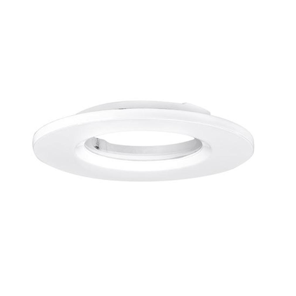 Aurora - ABIAUBZ600W - AURORA AUBZ600W -  mPro collerette aluminium IP65 ronde pr spot mPro - Blanc (sans luminaire)