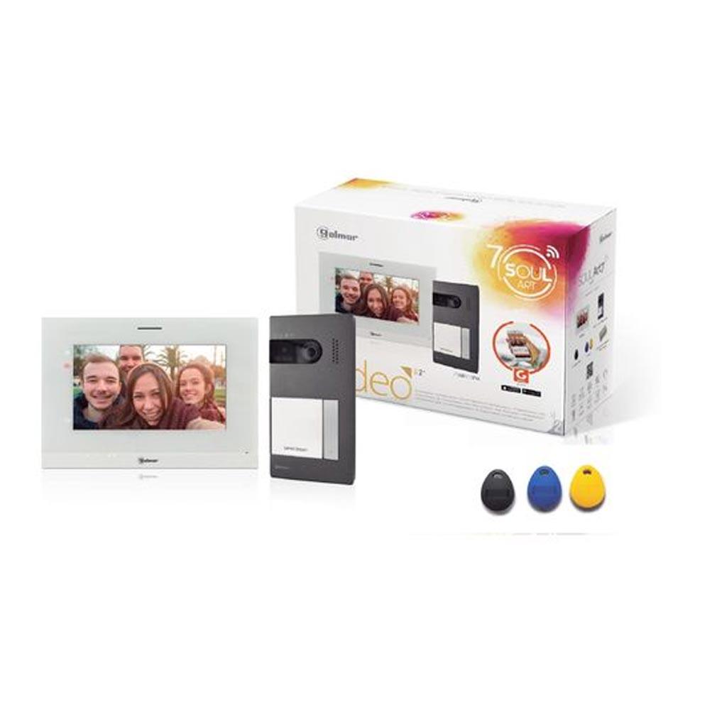 Bitron - BITGS5110ART7W - BITRON GS5110/ART7W - Kit vidéo couleur SOUL 1 appel avec moniteur 7' WIFI à mémoire