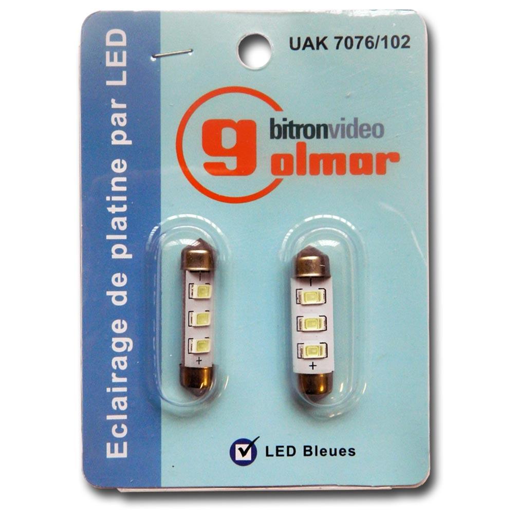 Bitron - BITUAK7076102 - BLISTER 2 NAVETTES LED BLEUES