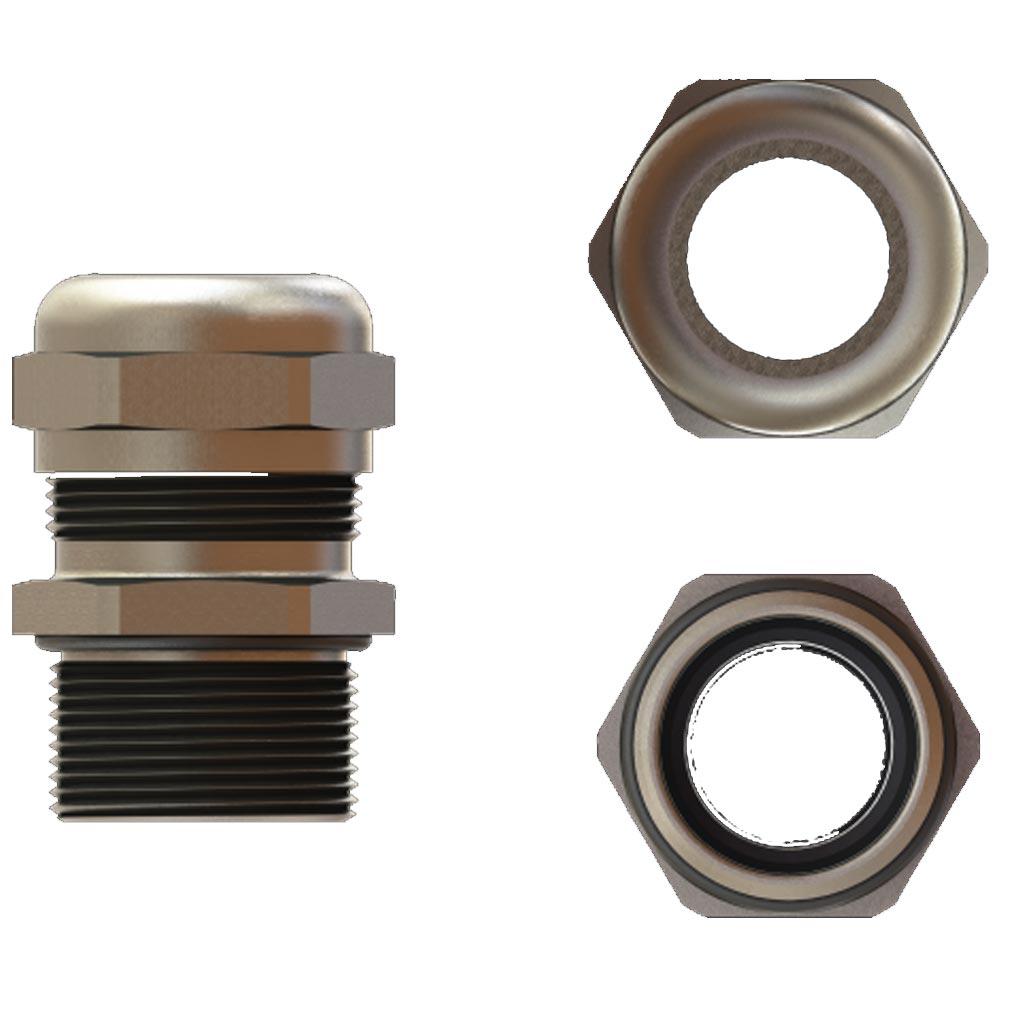 Bizline - BIZ208463 - BIZLINE 208463 - Presse-étoupe métal filetage M/ISO 63 ø 34- 44 mm