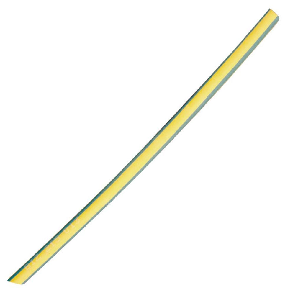 Bizline 215012 - Bizline 215012 - GAINE THERMORETRACTABLE 3/1 SANS ADHESIF 3/1 MM 1 M VERTE/JA...