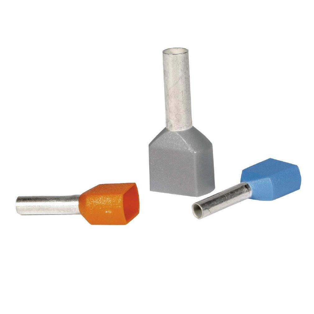 Bizline - BIZ225050 -  Embout de câblage double 2 x 0.75 mm² bleu (x 100)