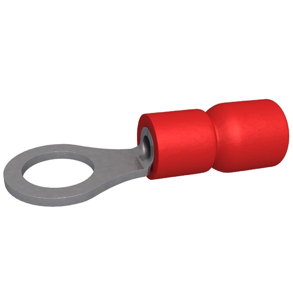 Bizline - BIZ230001 -  Cosse pré-isolée ronde 0.5-1.5 mm² M4 rouge (x 100)