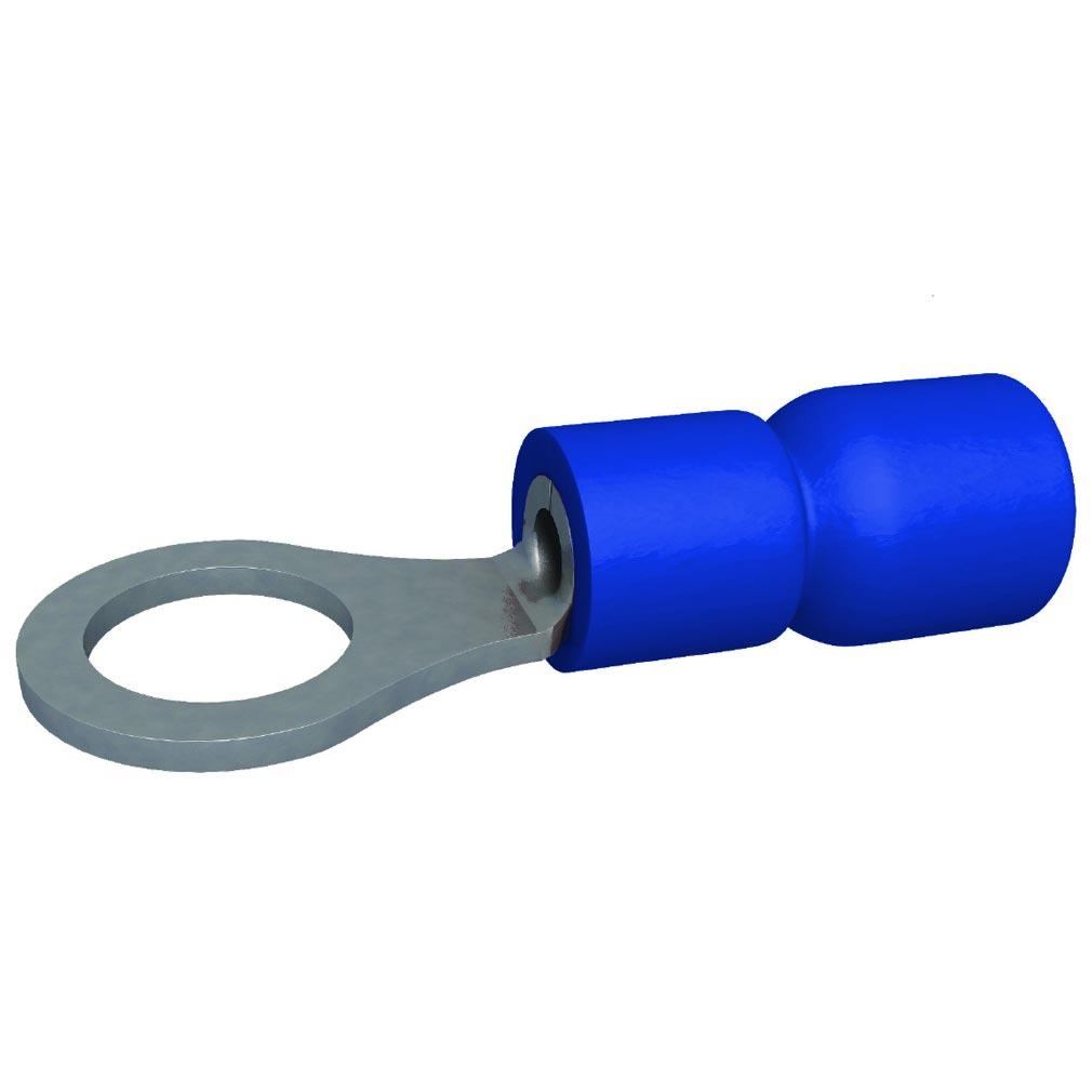 Bizline - BIZ230013 - Cosse pré-isolée ronde bleue 1.5-2.5 mm² M8 (x 100)