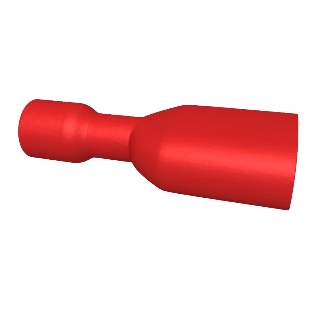 Bizline - BIZ235030 -  Clip isolé femelle 0.5-1.5 mm² 6.3 x 0.8 mm rouge (x 100)
