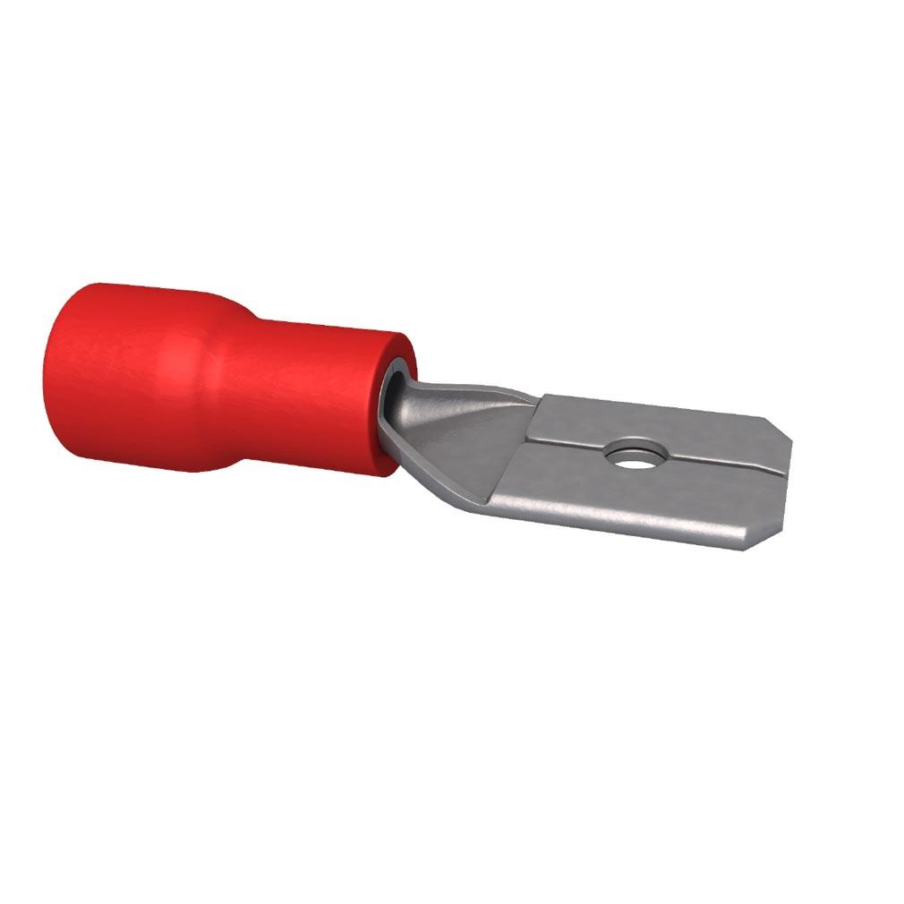 Bizline - BIZ240001 -  Clip pré-isolé mâle 0.5-1.5 mm² 6.3 x 0.8 mm rouge (x 100)