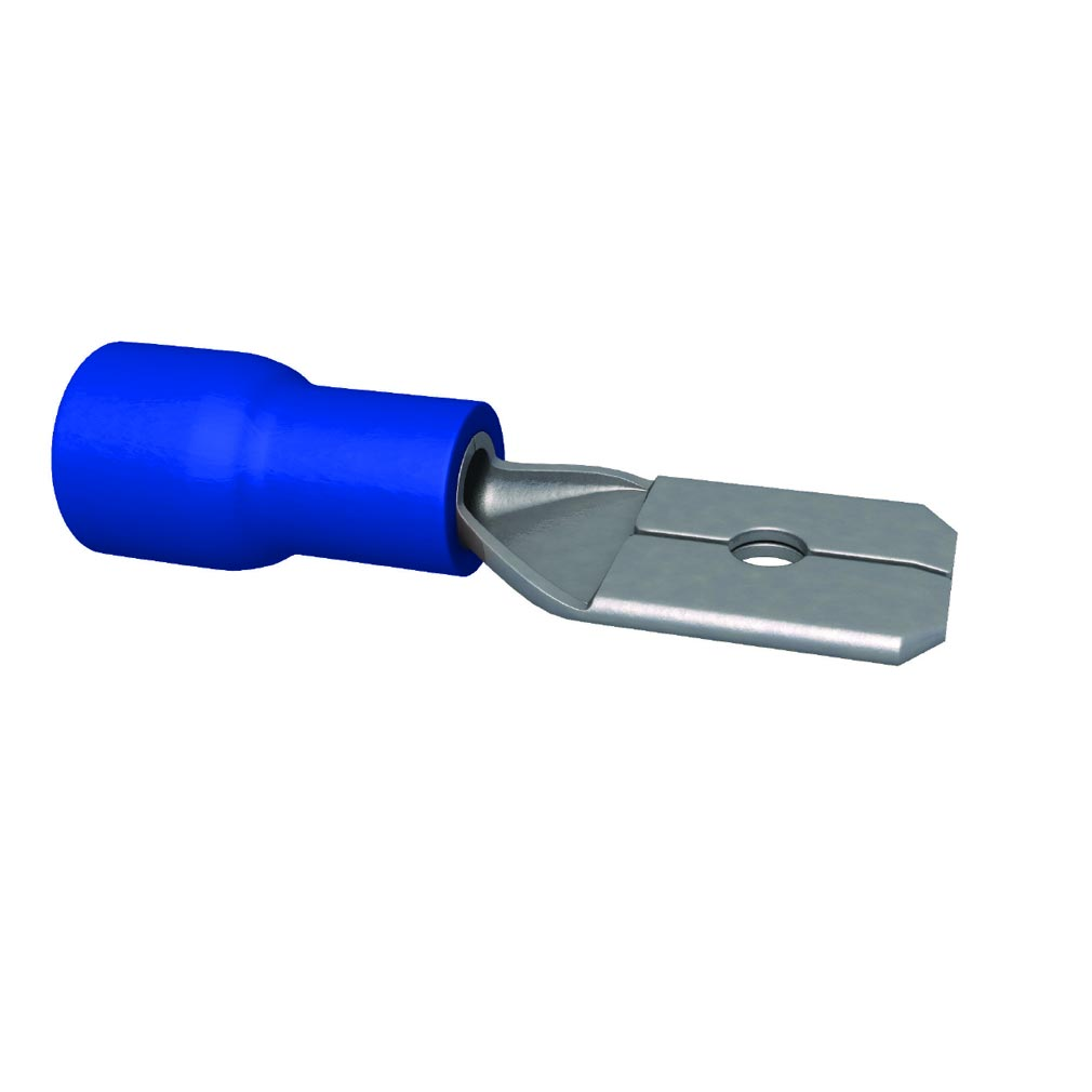 Bizline - BIZ240010 -  Clip pré-isolé mâle bleu 1.5-2.5 mm² 6.3 x 0.8 mm (x 100)