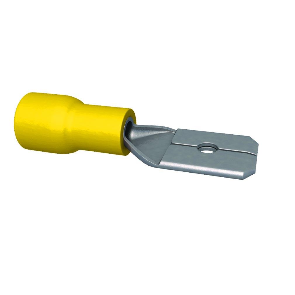 Bizline - BIZ240020 -  Clip pré-isolé mâle 6.3 x 0.8 mm jaune (X 100)