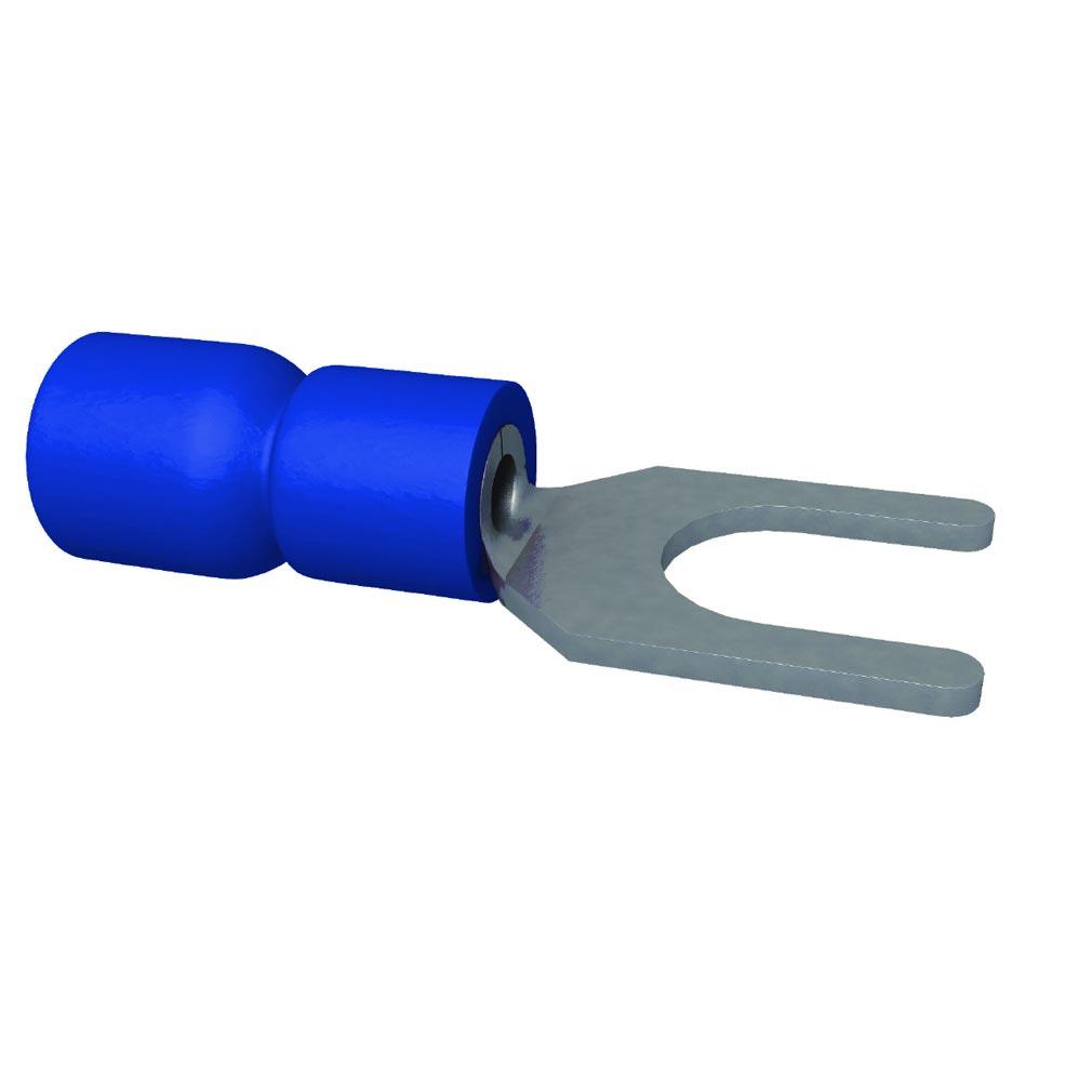 Bizline - BIZ252002 - Cosse pré-isolée fourche bleue 1.5-2.5 mm² M5 (x 100)