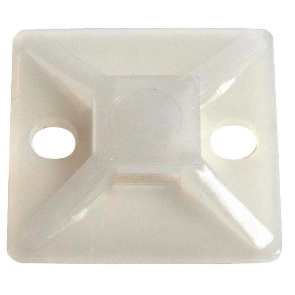 Bizline - BIZ300019 - Embase adhésive et à visser 28 x 28 x 3.9 mm transparente (x 100)