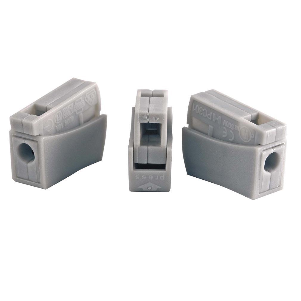 Bizline - BIZ300490 - Borne de connexion 1 câble flexible/1 câble rigide grise (x 100)