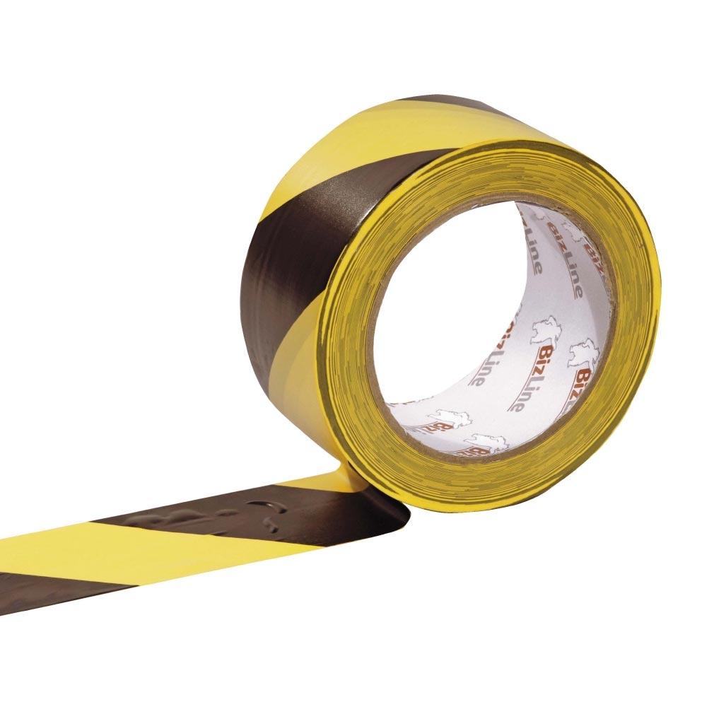 Bizline - BIZ351051 -  Ruban de signalisation adhésif jaune/noir 50 mm x 33 m x 0.17 mm