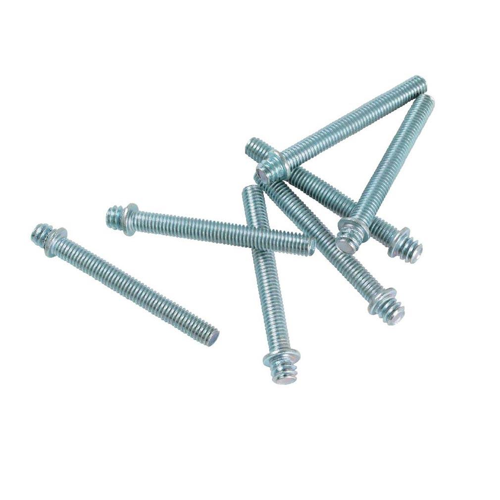 Bizline - BIZ400058 -  Patte à vis métal 7 x 150 longueur 50 mm (x 100)