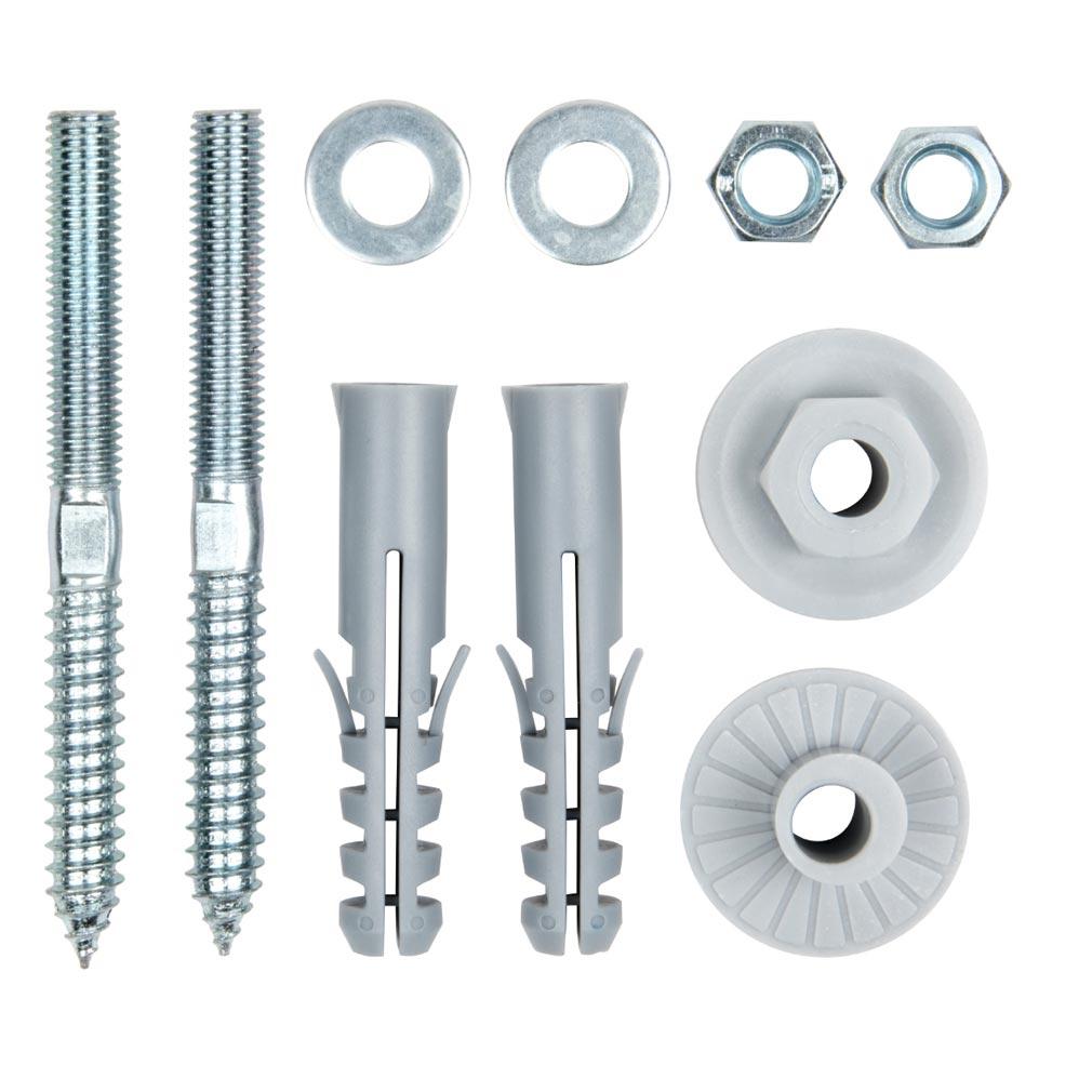 Bizline - BIZ400106 -  Kit de fixation réglable pour lavabo D= 8 mm 90 mm