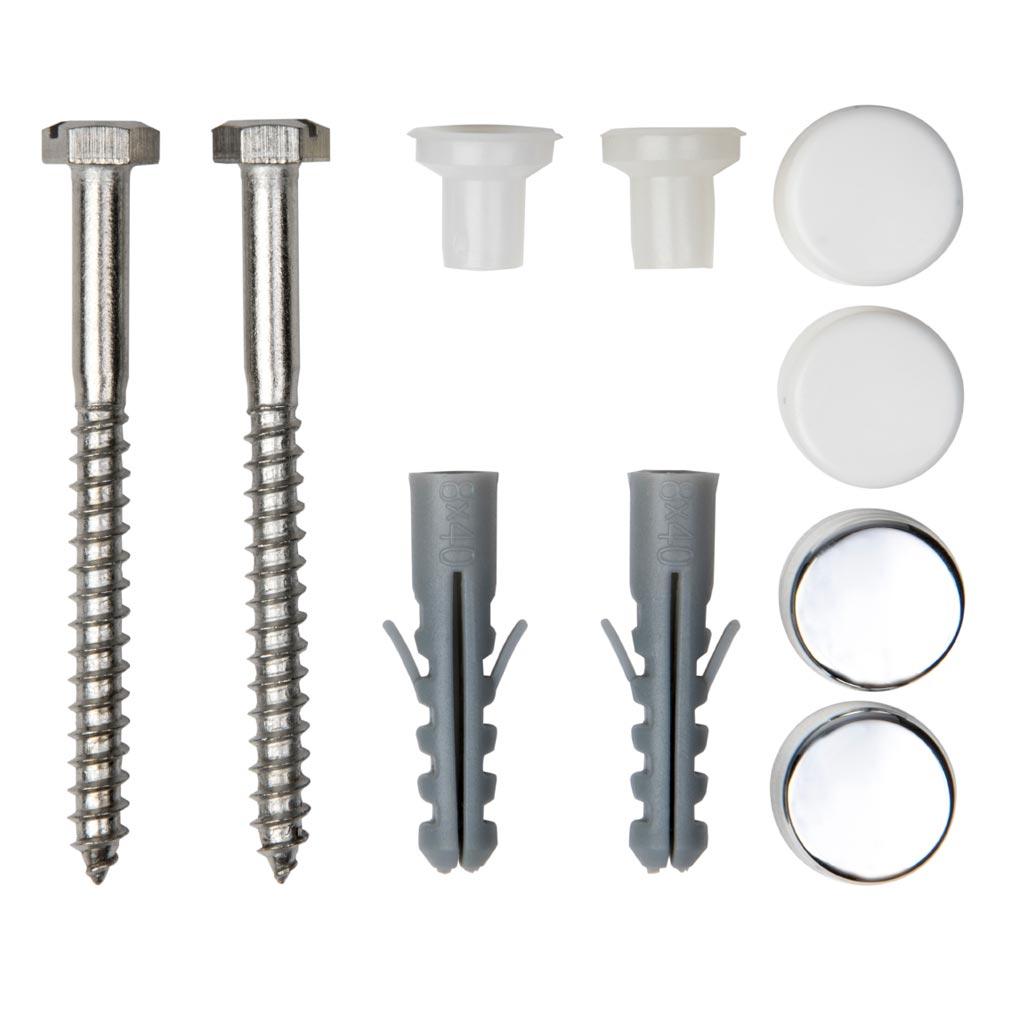 Bizline - BIZ400110 -  Kit de fixation tête hexagonale pour WC et bidet D= 6 mm 70 mm