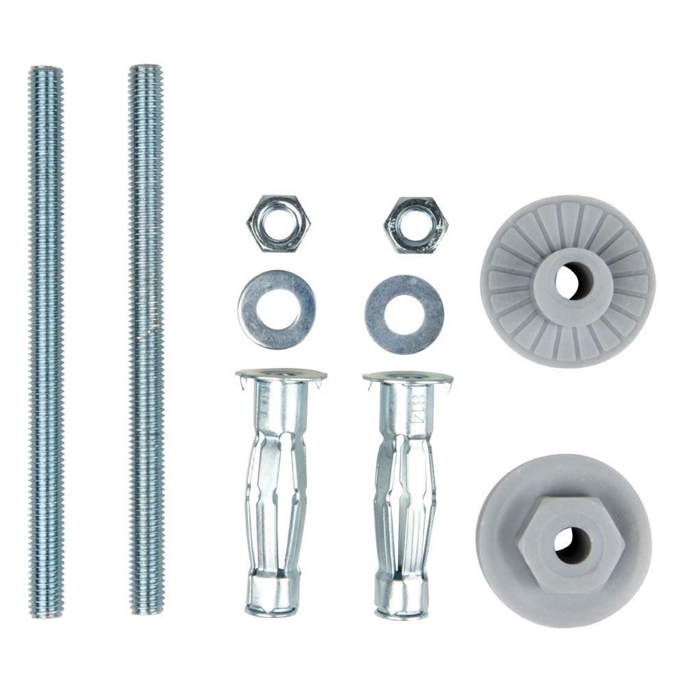 Bizline - BIZ400111 -  Kit de fixation de lavabo sur colonne cloison creuse D= 8 mm 50 mm