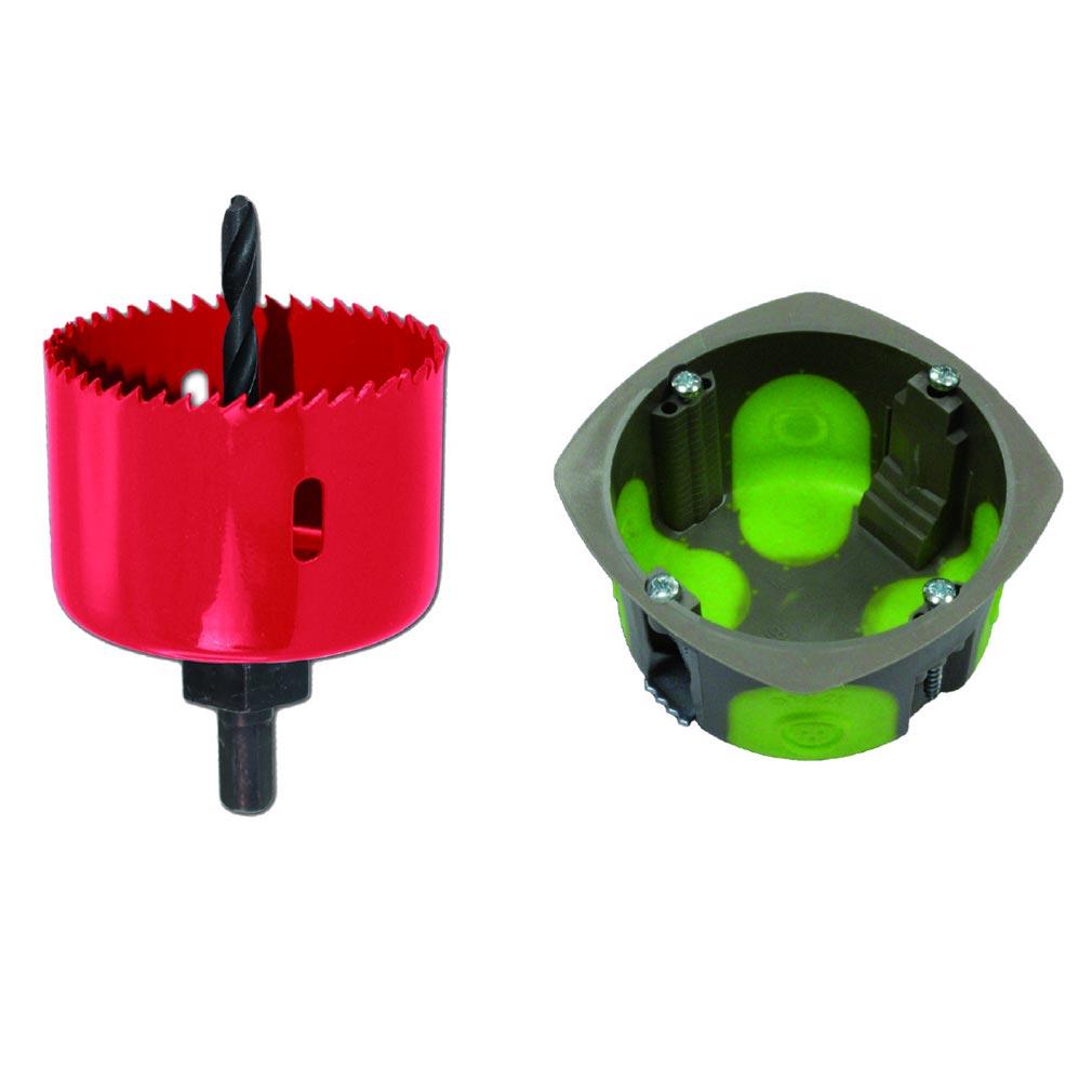 Bizline - BIZ500100 -  Pack de 100 boîtes simples d'appareillage R'Box D 67 1 poste et scie cloche 67