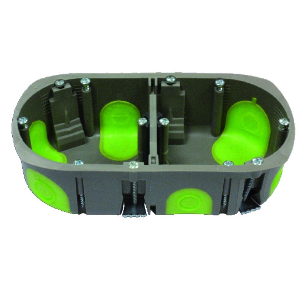 Bizline - BIZ500240 -  Boîte multiposte d'appareillage R'Box Ø 67 mm entraxe 71 mm 2 poste profondeur 40 mm