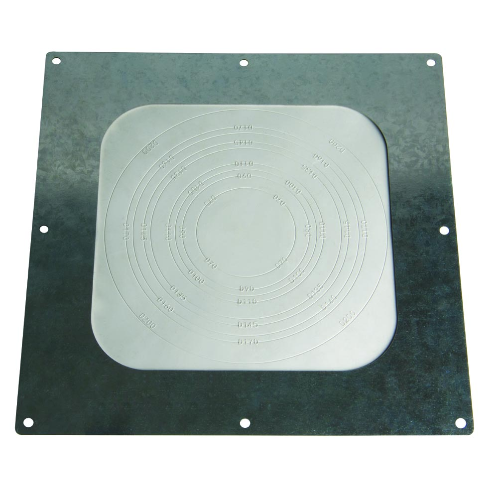 Bizline - BIZ501502 -  Membrane de passage d'étanchéité avec cadre métallique 80 / 200 mm