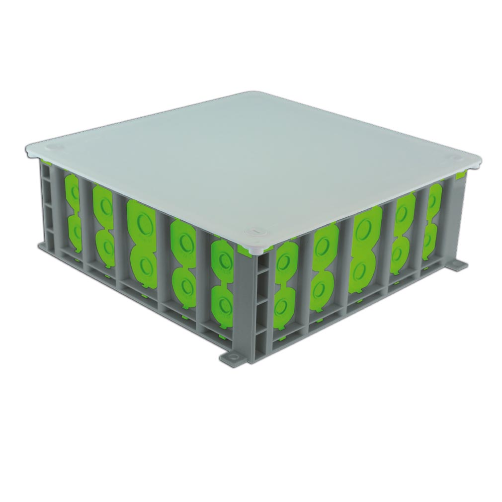 Bizline - BIZ502525 -  Boîte pavillonaire R'Box 250 x 250 x 80 mm