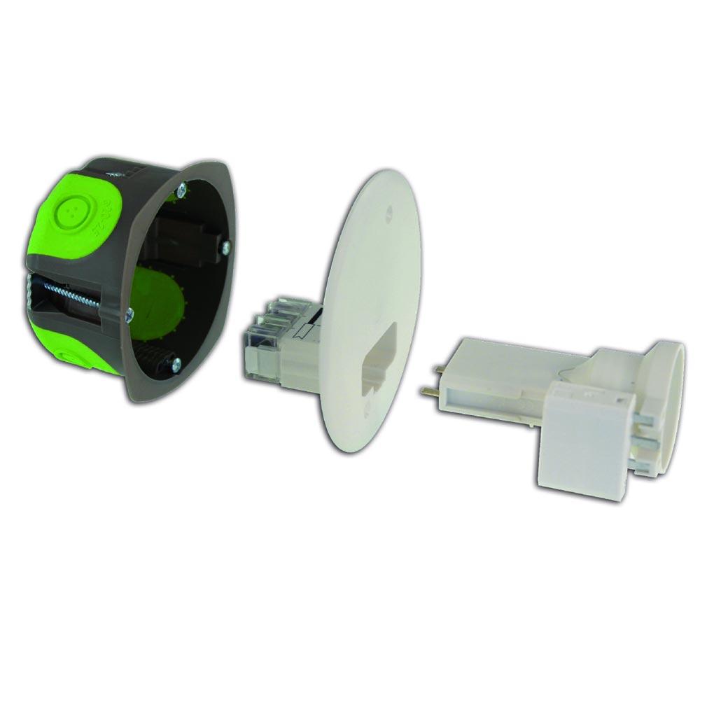 Bizline - BIZ506027 -  Kit boîte d'applique DCL R'Box Ø 67 mm profondeur 50 mm avec douille E27