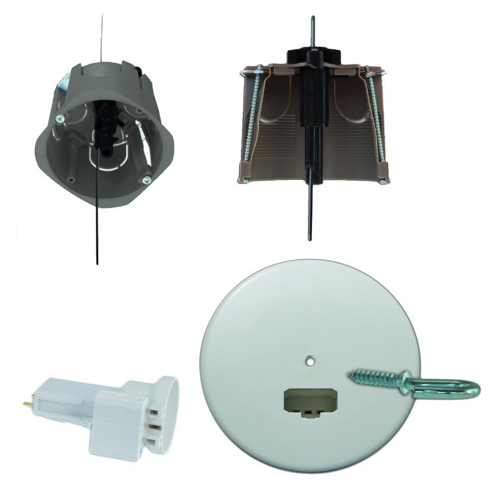 Bizline - BIZ512627 -  Kit point de centre DCL Fix'R Ø 67 mm avec fixation intégrée 2 m et douille E27