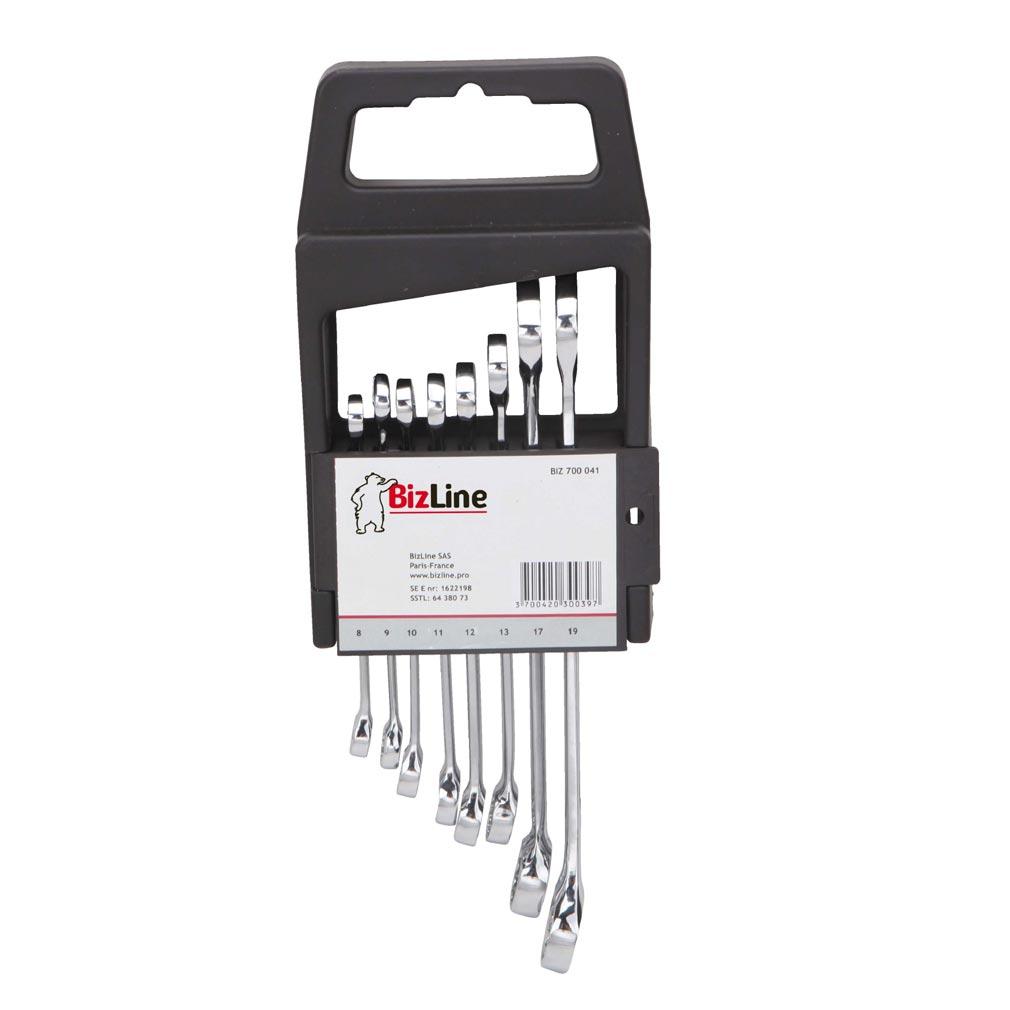Bizline - BIZ700041 -  Jeu de 8 clés mixtes 8/9/10/11/12/13/17/19 mm