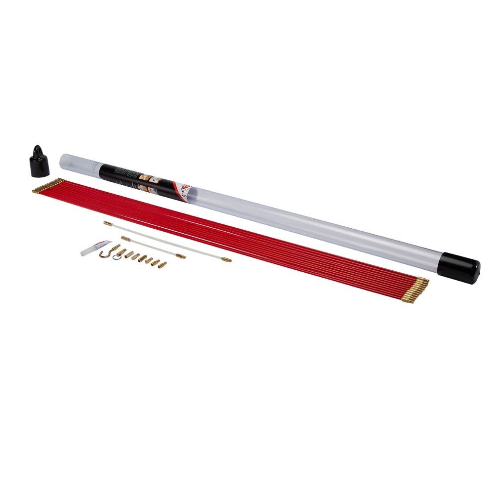 Bizline - BIZ700130 -  Kit de 12 baguettes tire-fils 1 m Ø 5 mm rouges