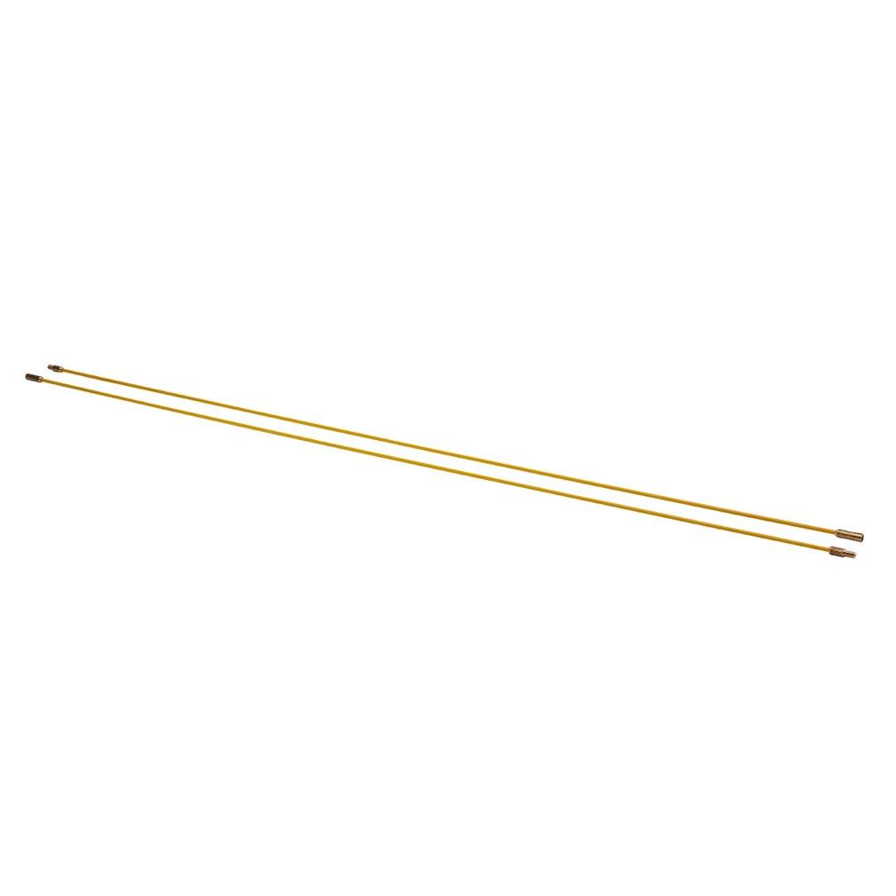 Bizline - BIZ700139 -  Kit de 2 baguettes tire-fils 1 m Ø 4 mm jaunes