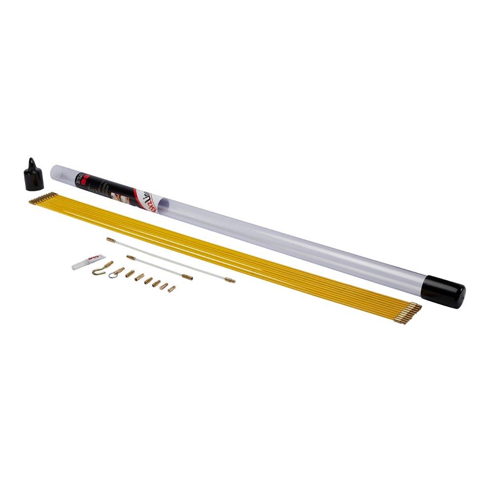 Bizline - BIZ700145 -  Kit de 10 baguettes tire-fils 1 m D 4 mm jaunes