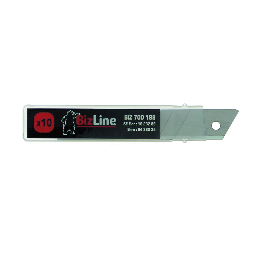 Bizline - BIZ700188 -  Jeu de 10 lames pour cutter BIZ 700 187