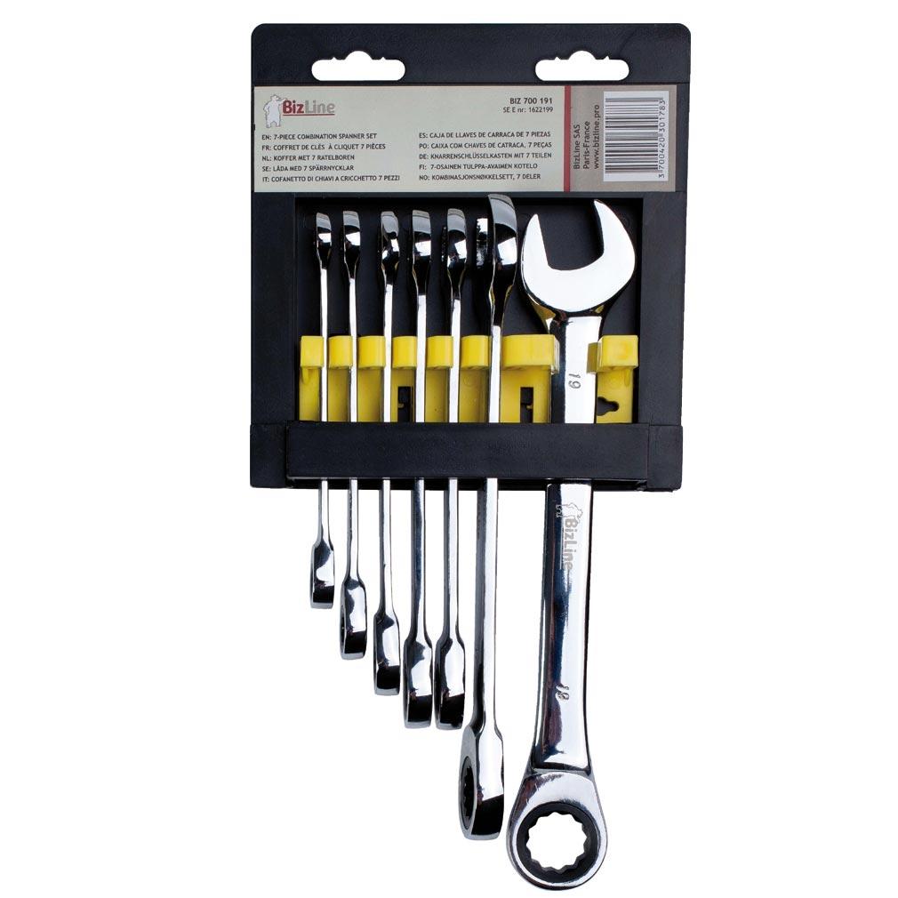 Bizline - BIZ700191 -  Coffret de clés à cliquet 7 tailles 8/10/11/12/13/17/19 mm